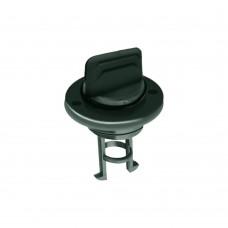 "Black Plastic Drain Plug - Size: 1"""