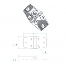 Stainless Steel Hinge 304 Model No: 52563