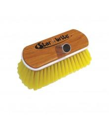 """Soft Wash Brush - Wood Block 8"""" with Bumper Brush (Yellow) - 040170"""