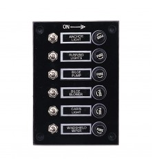 6 Gang Switch Panel Model: 10060