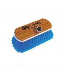 "Medium Wash Brush - Wood Block 8"" with Bumper Brush (Blue) - 040171"