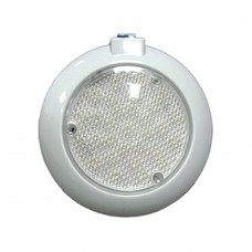 LED Dome Switch Light - Surface Mount (White Plastic Body)