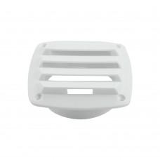White Plastic Louvered Vent