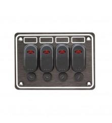 4 Gang Switch Panel Model: 10047-BK