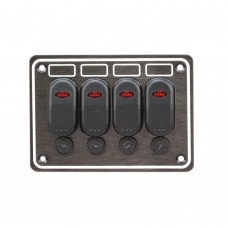 4 Gang Switch Panel Model: 10047-BK