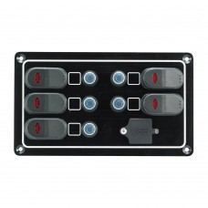 5 Gang Switch Panel - With USB Port