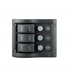 3 Gang Switch Panel Model: 10013-BK