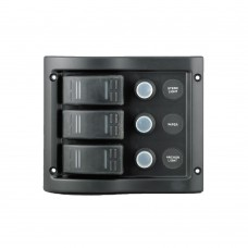 3 Gang Switch Panel Model: 10013-BK