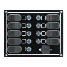 9 Switches - 1 USB Port Switch Panel