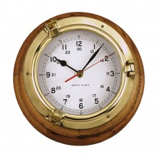 Lacquered Brass Case Clock (with Oak Base Plate)