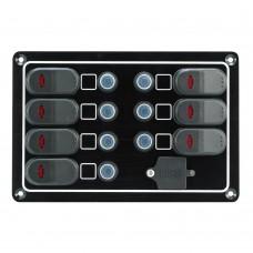 7 Switches - 1 USB Port Switch Panel