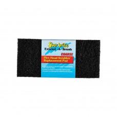 Flexible Head Scrubber Replacement (Coarse) Black