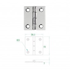 Stainless Steel Hinge 304 Model No: 52595