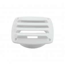 White Plastic Louvered Vent
