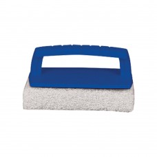 Scrub Pad with Handle (Fine) White