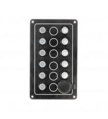 5 Gang Switch Panel - With Cigarette Socket Model: 10052-BK