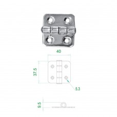 Stainless Steel Hinge 304 Model No: 52565