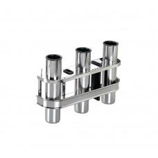 Stainless Steel Rod Holder - 3 Rods