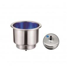Blue LED Drink / Can Holder