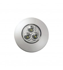 """LED Push-On / Off Light (SM) With 3 x """"AAA"""" Batteries & Adhesive Label - (00066-WH)"""
