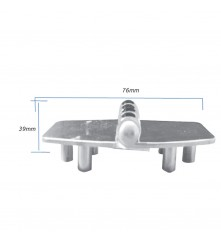 Hinge with Thread Shank M5 - AISI 304 Model No: 006153-316